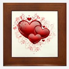 Floral Hearts Framed Tile