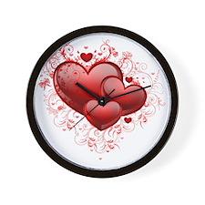 Floral Hearts Wall Clock