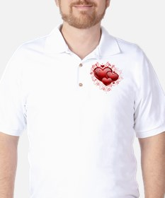 Floral Hearts Golf Shirt