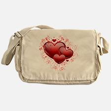 Floral Hearts Messenger Bag
