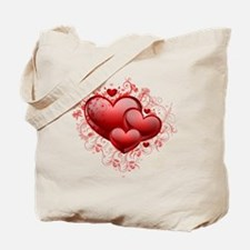 Floral Hearts Tote Bag