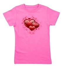 Floral Hearts Girl's Tee