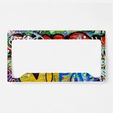 Colorful Graffiti Laptop Comp License Plate Holder