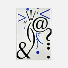 Punctuation Art, Smart Art Rectangle Magnet