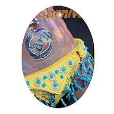 Caribbean Carnival Oval Ornament