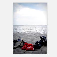 Flip Flop Beachy Vignette Postcards (Package of 8)