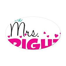 mrs_right_artwork Oval Car Magnet