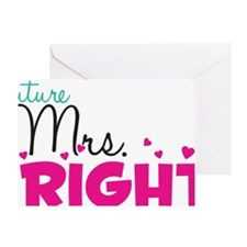 mrs_right_artwork Greeting Card