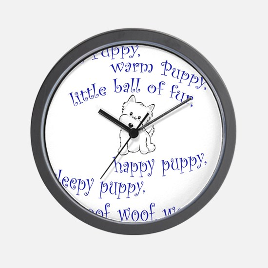 Soft Puppy Wall Clock