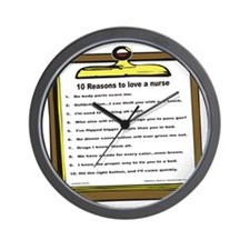 10 reasons to love a nurse Wall Clock
