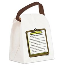 10 reasons to love a nurse Canvas Lunch Bag