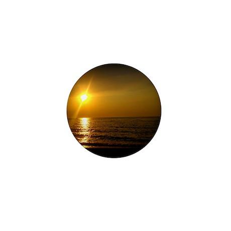 Golden Sunset Mini Button
