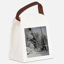 Portrait Charm Canvas Lunch Bag