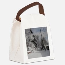 Round Charm Canvas Lunch Bag