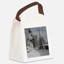 Heart Charm Canvas Lunch Bag