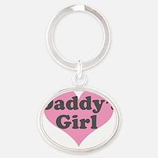 Daddys Girl Oval Keychain