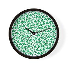 Four Leaf Clover - St Patricks Day Wall Clock