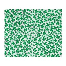 Four Leaf Clover - St Patricks Day Throw Blanket