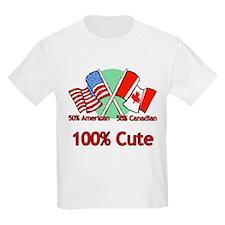 Canadian American 100% Cute T-Shirt