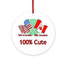 Canadian American 100% Cute Ornament (Round)