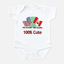 Canadian American 100% Cute Infant Bodysuit
