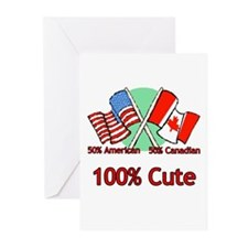 Canadian American 100% Cute Greeting Cards (Packag