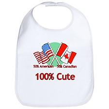Canadian American 100% Cute Bib