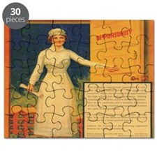 Vintage 1941 recruiting poster for nurses Puzzle