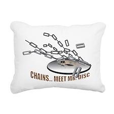 Chains..Meet Mr. Disc Rectangular Canvas Pillow