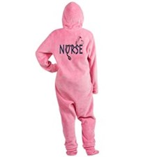 Nurse logo Footed Pajamas