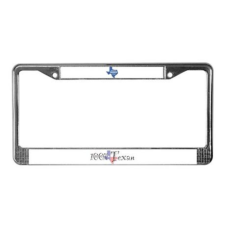 100% Texan License Plate Frame