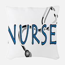 Nurse logo Woven Throw Pillow