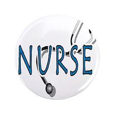 """Nurse logo 3.5"""" Button"""