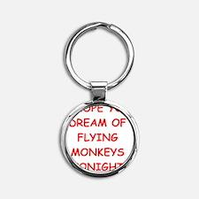 MONKEYS Round Keychain