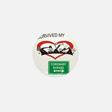 I survived my coronary bypass Mini Button