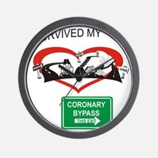 I survived my coronary bypass Wall Clock