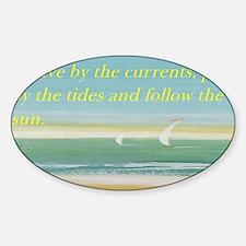 The beach Sticker (Oval)