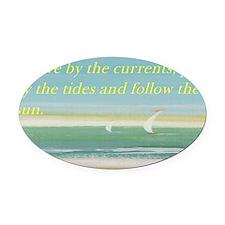 The beach Oval Car Magnet