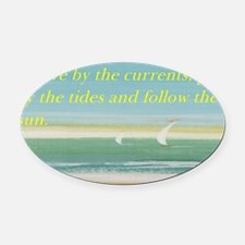 The beach Oval Car Magnet