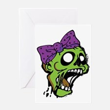 Zombie Bow Greeting Card