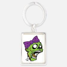 Zombie Bow Portrait Keychain