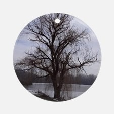 Peaceful Willow Tree Round Ornament