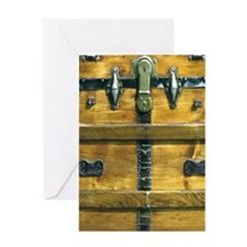 SteamPunk Steamer Trunk iPad Case Greeting Card