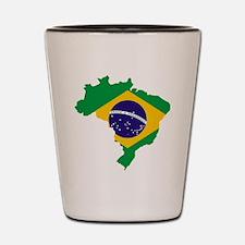 Brasil Flag Map Shot Glass