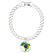 Brasil Flag Map Bracelet