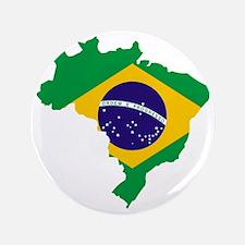 "Brasil Flag Map 3.5"" Button"