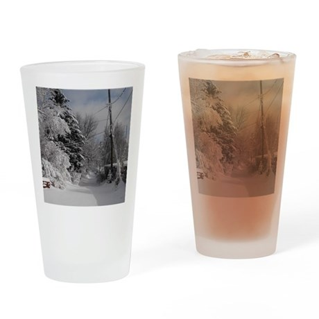 Teardrop Charm Drinking Glass