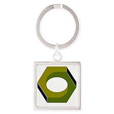 T6B Hex Nut Square Keychain