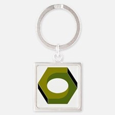 T6B Hex Nut Square Keychain