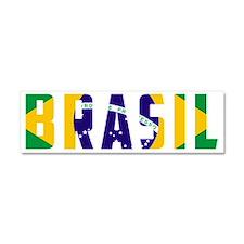 Brasil-Brazil Flag Car Magnet 10 x 3